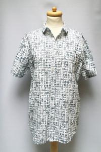 Koszula NOWA Biała Marynarski Wzór Brave Soul 48