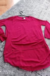 Malinowy sweter H&M