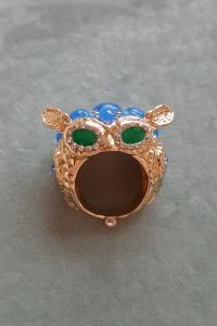 Nowy pierścionek sowa sówka złoty kolor