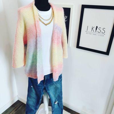 Swetry Kolorowy kardigan