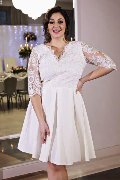 Suknie i sukienki Diana sukienka ecru 36 do 52 kolory