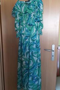 Sukienka hiszpanka w piękne wzory...
