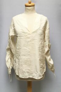 Bluzka Kremowa Lyocell L 40 H&M Elegancka Wiązanie...