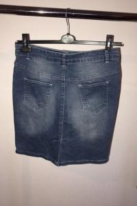 Spódnica do kolan jeansowa ołówkowa guziczki...