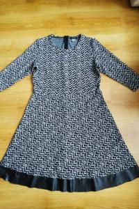 Sukienka czarno biała LaRedoute 14 42 XL
