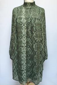 Sukienka Zielona H&M XXL 44 Skóra Węża Oversize Elegancka...