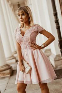 sukienka koronkowa pudrowy róż 34 36 38 40 42 2280...