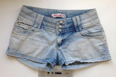 Spodenki Jasne luźne niebieskie jeansowe szorty denim Segreti jeans wear XS S 34 36 tanie