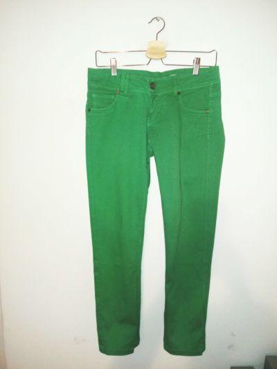 Spodnie Zielone spodnie rurki Terranova emo punk rock