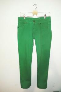 Zielone spodnie rurki Terranova emo punk rock...