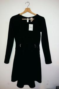 NOWA czarna sukienka z długim rękawem C&A elegancka...