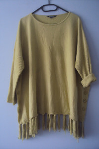 oryginalny limonkowy sweterek