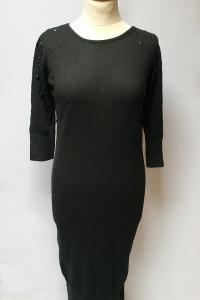 Sukienka Sweter Czarna H&M Mama Kryształki Ciąża M 38...