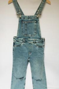 Ogrodniczki Dzinsowe H&M Dziury Jeans M 38 Kombinezon...