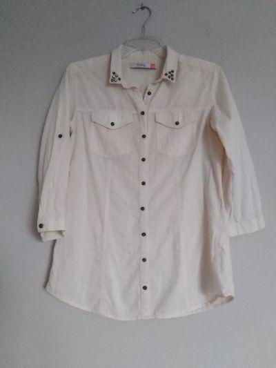 Koszule Reserved koszula damska 38 M bluzka morelowa brzoskwiniowa pastelowa pudrowy róż