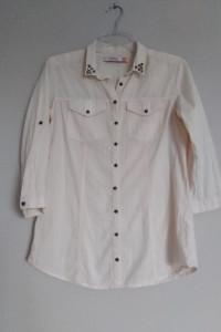 Reserved koszula damska 38 M bluzka morelowa brzoskwiniowa past...