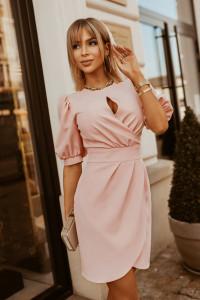 Sukienka mini rękaw bufki 2221 kolory S M L XL...