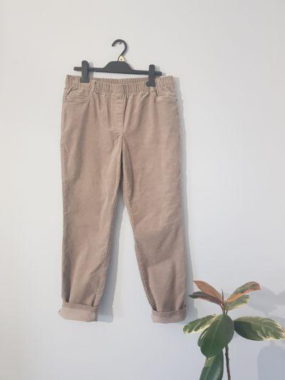 Spodnie Beżowe sztruksowe spodnie