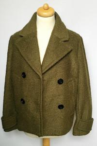 Płaszczyk Kurtka Khaki Zielony H&M S 36 Baranek Płaszcz