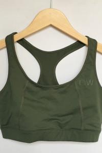 Stanik Sportowy Top Khaki Zielony M 38 Iciw Family Fitness