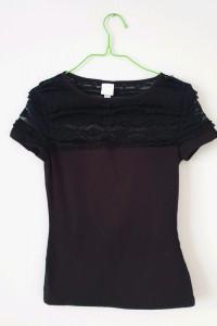 Czarna bluzka koronka H&M...