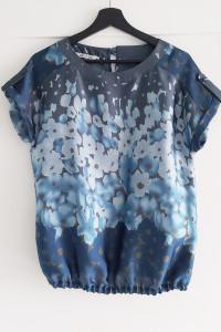 Bluzka bombka 36 Quiosque niebieska morska kwiaty...