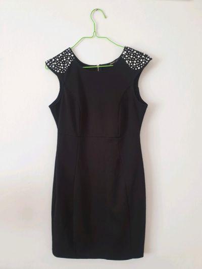 Suknie i sukienki Czarna dopasowana sukienka ORSAY