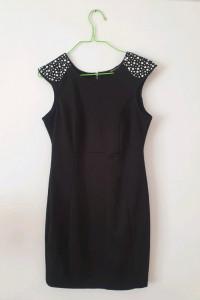 Czarna dopasowana sukienka ORSAY