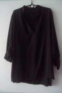 czarna asymetryczna tunika...