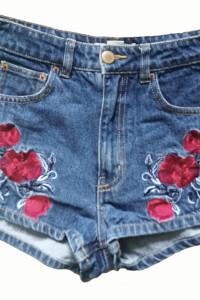 spodenki H&M kwiaty szorty maki 36 S...
