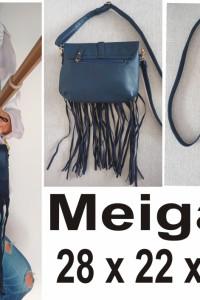 Granatowa torebka Meigallo 28 x 22 x 6 cm...