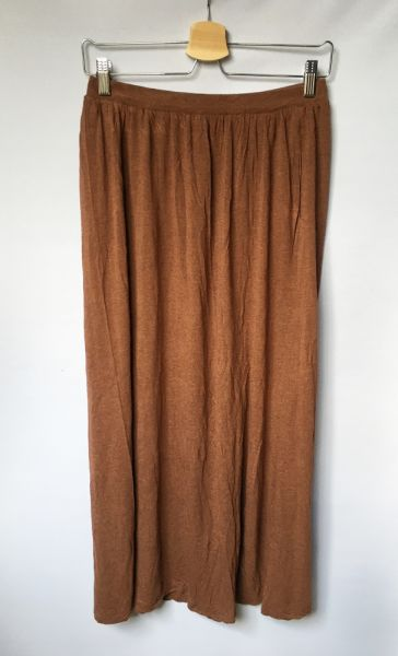 Spódnice Spódnica Brązowa Brąz H&M M 38 Rozkloszowana Long Maxi