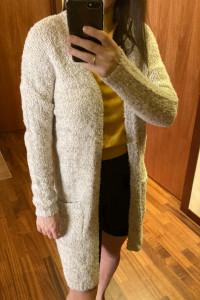 Beżowy sweterek kardigan narzutka diverse xs