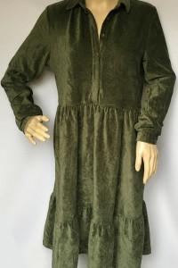 Sukienka Zielona Khaki Welurowa Pieces M 38 Welur...