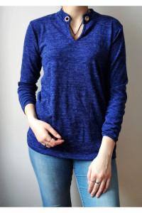 Niebieska bluzka melanż...
