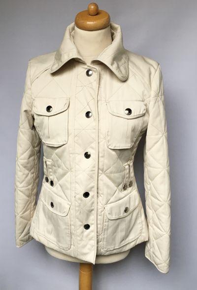 Odzież wierzchnia Kurtka Beżowa Pikowana Zara Woman M 38 Militarna Wiosenna
