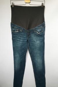 Spodnie H&M Mama Dzinsy Jeansy Slim L 40 Rurki Ciążowe...