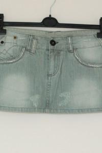 szara jeansowa mini 8 s...