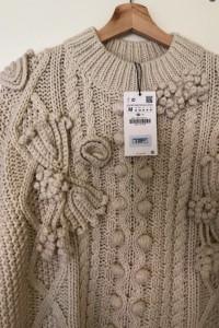 Zara bezowy sweter