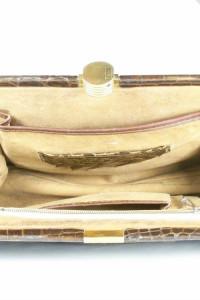 torebka skórzana brązowa