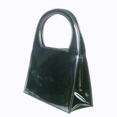 Torebki na co dzień Czarna torebka wysoki połysk