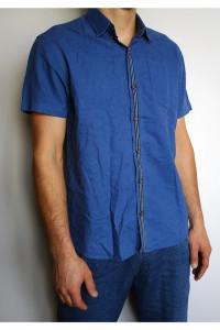 Niebieska męska koszula...