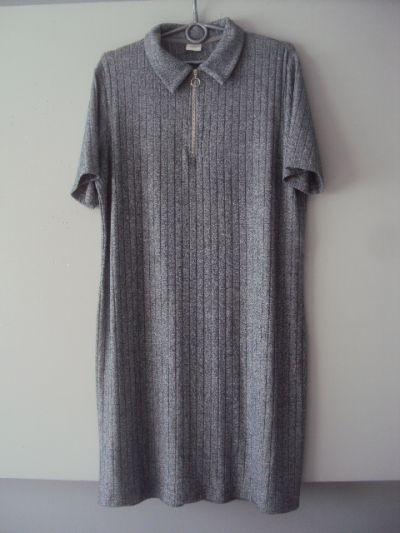 Suknie i sukienki melanzowa prazkowana sukienka