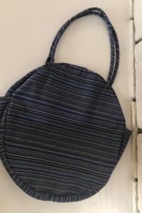 Handmade torba worek plażowa okrągła w paski NOWA...
