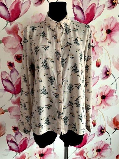 Koszule primark koszula modny wzór kwiaty ptaszki modny wzór hit 42