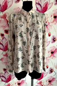 primark koszula modny wzór kwiaty ptaszki modny wzór hit 42...