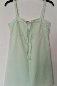 Koszula nocna na ramiączkach z koronka w kolorze mięty rozmiar ...