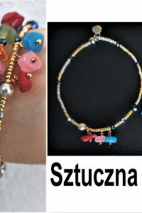 Kolorowe bransoletki sztuczna biżuteraia...