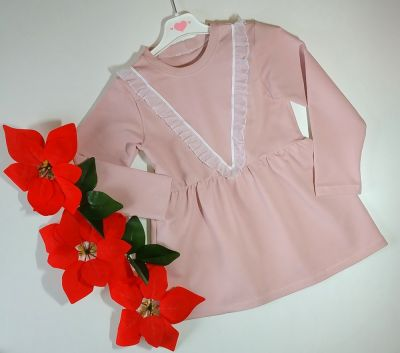 Sukienki i spódniczki Elegancka sukienka dresowa z falbankami