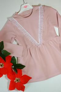 Elegancka sukienka dresowa z falbankami...
